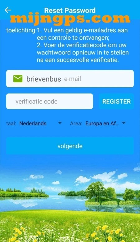 setracker-reset-password-account-app-help-uitleg-werking
