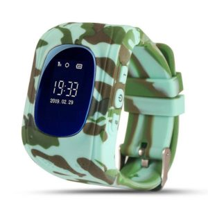 Gps horloge Camo Groen kids watch SOS LED v2