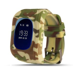 Q50 Camo kids smart watch SOS LED v2 zandkleur